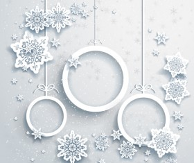 Beautiful snowflakes christmas backgrounds vector 06