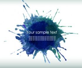 Watercolor splash background vectors 01