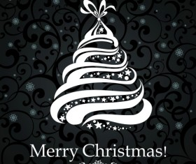 Black Style 2014 Christmas Backgrounds vector 01