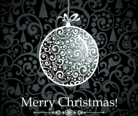 Black Style 2014 Christmas Backgrounds vector 03