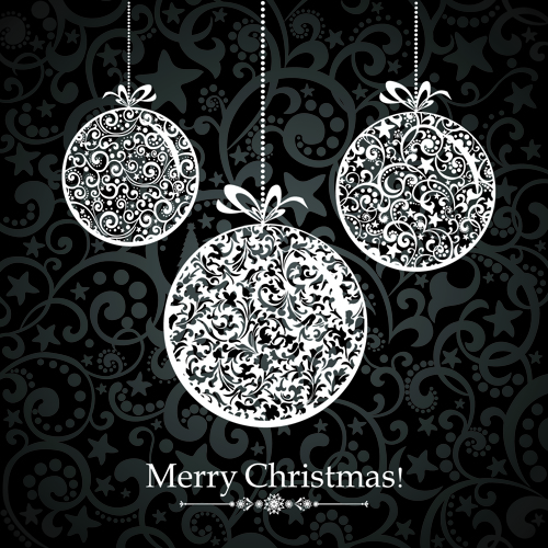 Black Style 2014 Christmas Backgrounds vector 05 - Vector ...