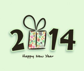 Creative 2014 New Year design vector graphic 01