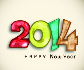Creative 2014 New Year design vector graphic 03