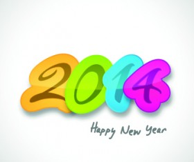 Creative 2014 New Year design vector graphic 05