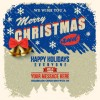 2014 Christmas with holiday retro style background vector 01