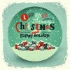 2014 Christmas with holiday retro style background vector 04