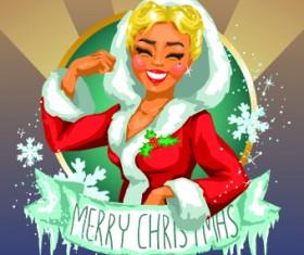 2014 Christmas Maiden design vector 03