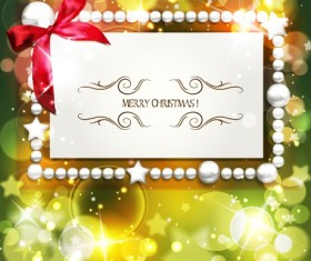 2014 Christmas Pearl card with halation background vector