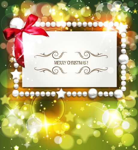 2014 christmas pearl card with halation background vector free download 2014 christmas pearl card with halation background vector m4hsunfo