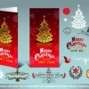 2014 christmas decoration calligraphic with typographic vector 05