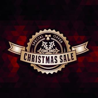 2014 Christmas labels background vector set 03