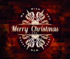 2014 Christmas labels background vector set 04