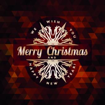 2014 Christmas labels background vector set 04