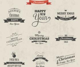 2014 Christmas logos creative design vector 02