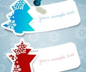 Vector set of 2014 Christmas sale tags design 01