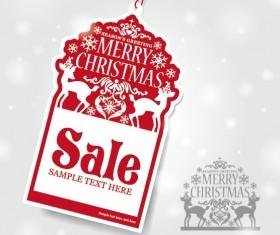 Vector set of 2014 Christmas sale tags design 02