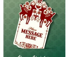 Vector set of 2014 Christmas sale tags design 03