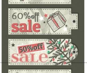 Vector set of 2014 Christmas sale tags design 04