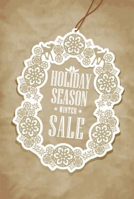 Vector set of 2014 Christmas sale tags design 05