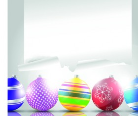 2014 Colored Christmas balls background vector 01