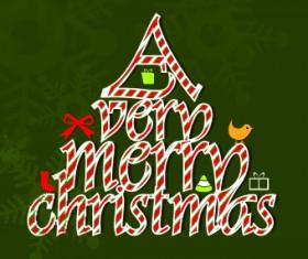 2014 Funny Christmas tree design vector 02