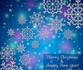 2014 Merry Christmas snowflake background graphics 01