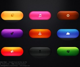 Colored glass psd button