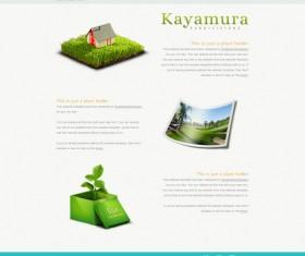 Classic environmental website psd template