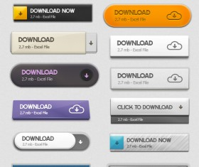 Creative web download button psd material