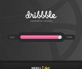 PSD material sliding interface creative design