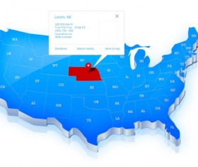 USA map navigation psd graphics