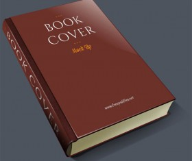 Vintage book cover psd material