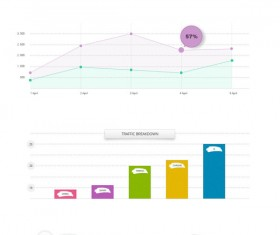 Business infographics psd material 02