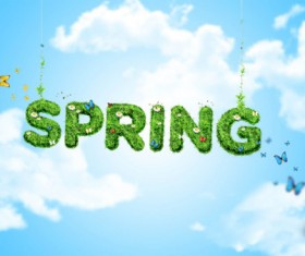 Spring creative design psd background