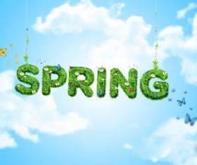 Spring creative design psd background