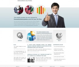 Modern business website template psd
