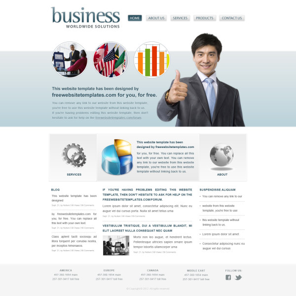 Business website templates psd free download vatozozdevelopment business website templates psd free download accmission