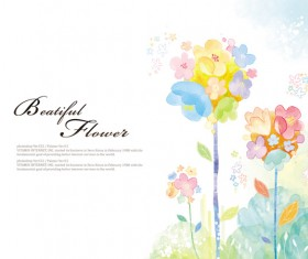Beatiful flower background psd graphics 02