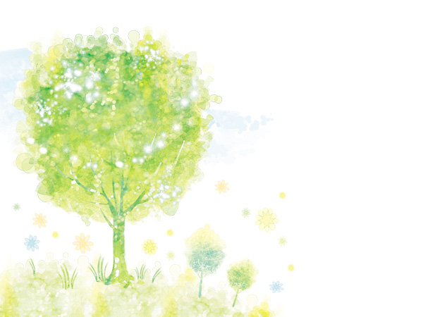 Watercolor tree psd background