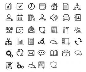 Small fine social psd icons