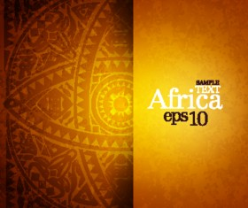 African style elements background vector set 03