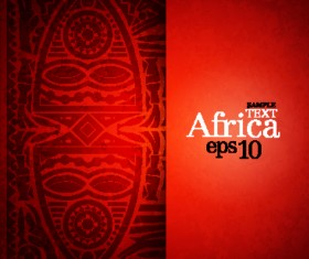 African style elements background vector set 04