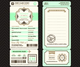 Aircraft Ticket design vector set 01