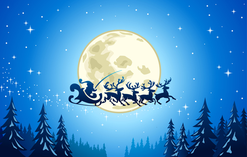 beautiful christmas night winter vector background 05 - Beautiful Christmas Images