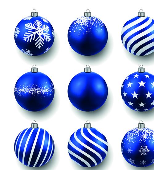 Beautiful Christmas Balls Caretive Design Vector 01