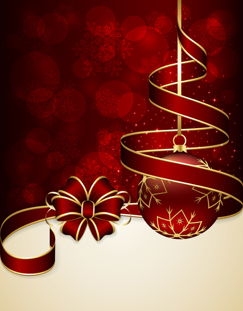 Beautiful xmas baubles shiny background vector 04 free download