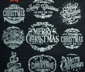 Black style Christmas typographic vector