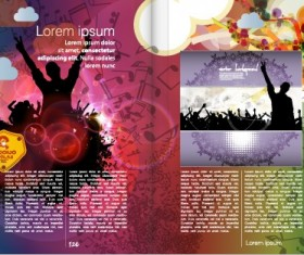 Vector cover of brochure and magazine design 02