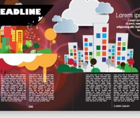 Vector cover of brochure and magazine design 04
