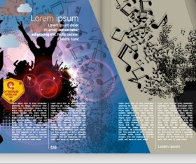 Vector cover of brochure and magazine design 05